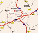Anfahrtskarte Schwarzenborn