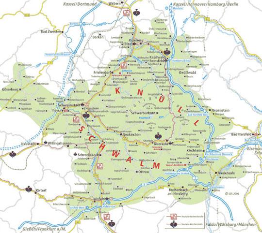 Karte Rotkäppchenland